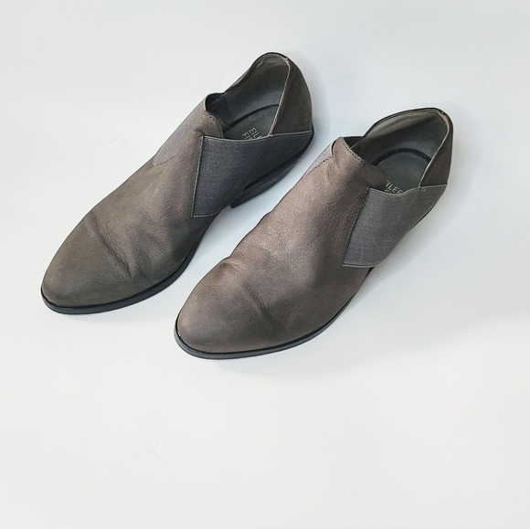Eileen Fisher Gray Leather Shoes